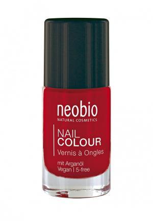 Лак для ногтей Neobio №05 5-FREE, с аргановым маслом. Лесная земляника. Цвет: красный