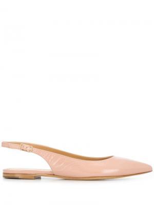 Мюли с заостренным носком и ремешком на пятке Antonio Barbato. Цвет: розовый