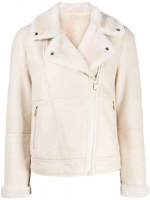 Куртка-бомбер на молнии Brunello Cucinelli. Цвет: нейтральные цвета