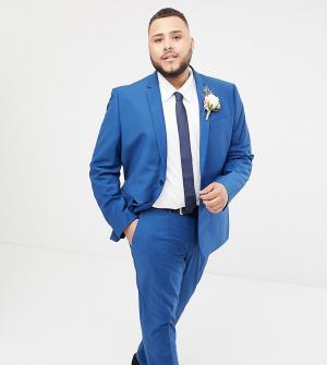 Синий приталенный пиджак Farah Wedding-Голубой Smart