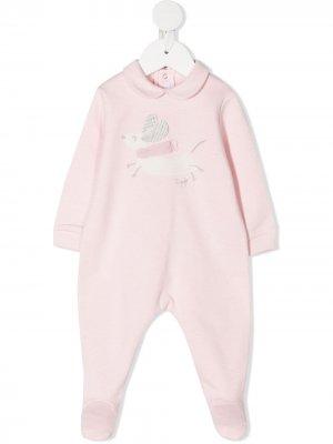 Пижама с аппликацией Il Gufo. Цвет: розовый
