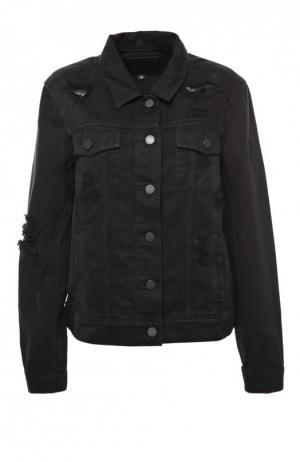 Куртка джинсовая Paige. Цвет: черный