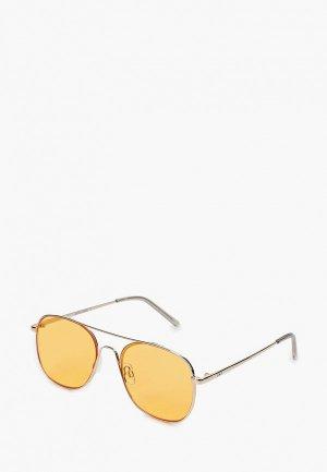 Очки солнцезащитные Jack & Jones. Цвет: серебряный