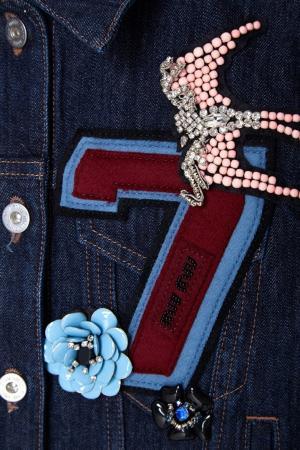 Джинсовая куртка Miu. Цвет: синий