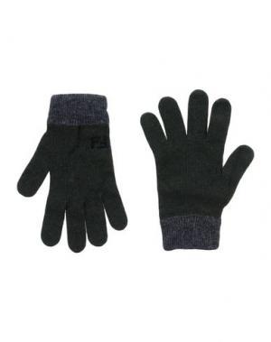 Перчатки FENDI. Цвет: темно-зеленый