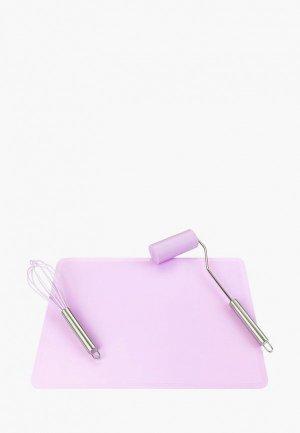Набор кухонных инструментов Elan Gallery. Цвет: фиолетовый