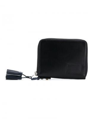 Квадратный кошелек с декоративными кисточками Sacai. Цвет: черный