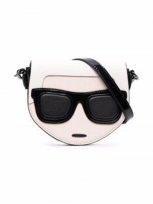 Сумка-сэтчел с откидным клапаном Karl Lagerfeld Kids. Цвет: черный