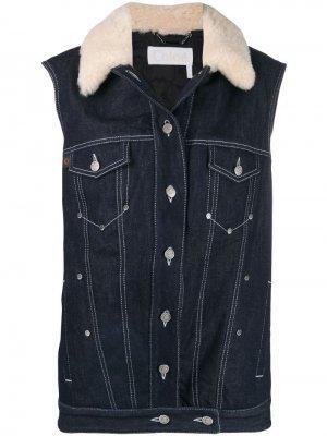 Джинсовая куртка без рукавов Chloé