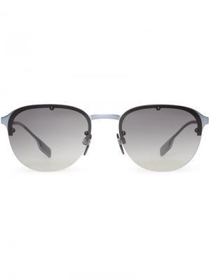 Солнцезащитные очки в круглой оправе Burberry Eyewear. Цвет: серый