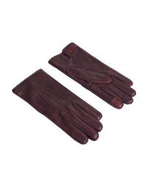 Перчатки DUNHILL. Цвет: темно-коричневый