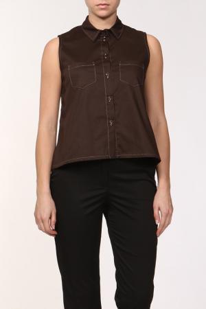Блузка Joe Suis. Цвет: коричневый