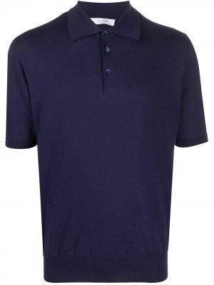 Рубашка поло с короткими рукавами Cruciani. Цвет: синий