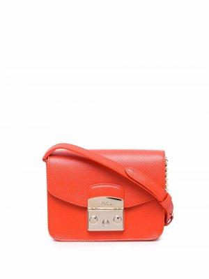 Мини-сумка через плечо Metropolis Furla. Цвет: оранжевый