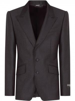 Жаккардовый пиджак Dolce & Gabbana. Цвет: фиолетовый