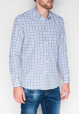 Рубашка Ombre. Цвет: голубой