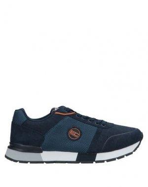 Низкие кеды и кроссовки ENRICO COVERI. Цвет: синий
