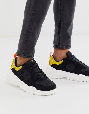 Черные кроссовки на массивной подошве -Мульти Creative Recreation
