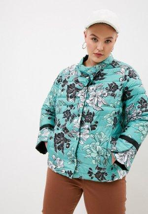 Куртка утепленная Elena Miro reversible. Цвет: бирюзовый