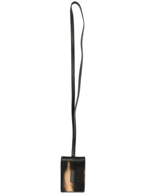 Кошелек с искусственным мехом OAMC. Цвет: черный