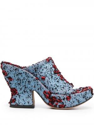 Мюли на каблуке Bottega Veneta. Цвет: синий
