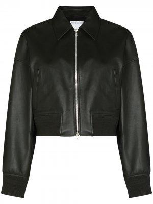 Укороченная куртка Bottega Veneta. Цвет: черный