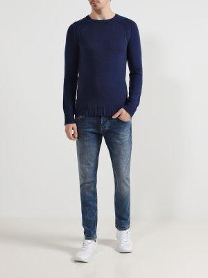 Зауженные джинсы Strellson. Цвет: goluboy