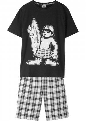 Пижама с шортами (2 изд.) bonprix. Цвет: черный