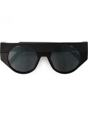 Солнцезащитные очки Black Label в круглой оправе Vava