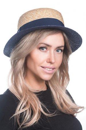 Шляпа Tonak. Цвет: соломенный,синий