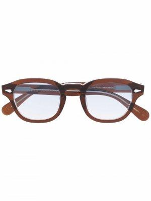 Солнцезащитные очки Posh 100 в квадратной оправе Lesca. Цвет: синий