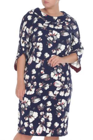 Платье Amazone. Цвет: синий
