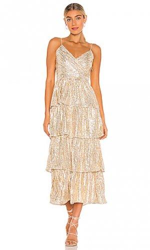 Платье с пайетками dalarie SAYLOR. Цвет: металлический золотой