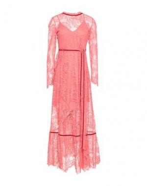 Длинное платье ANIYE BY. Цвет: коралловый