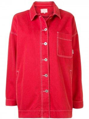 Джинсовая куртка оверсайз BAPY BY *A BATHING APE®. Цвет: красный
