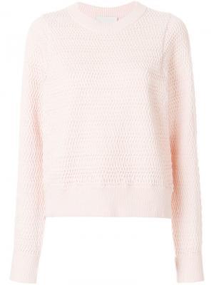 Пуловер с плетеным эффектом 3.1 Phillip Lim. Цвет: розовый