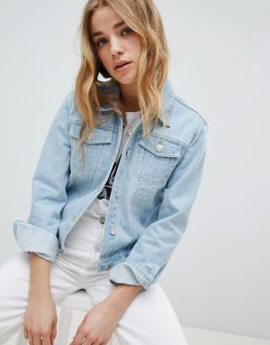Джинсовая куртка Miss Selfridge. Цвет: синий