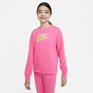 Свитшот из ткани френч терри для девочек школьного возраста Sportswear - Розовый Nike