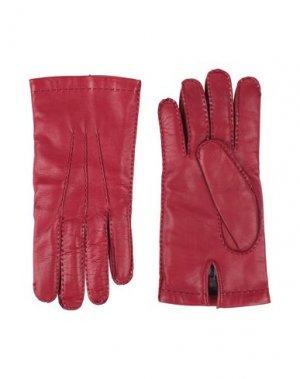 Перчатки ETRO. Цвет: кирпично-красный