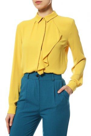 Блузка Disetta. Цвет: желтый