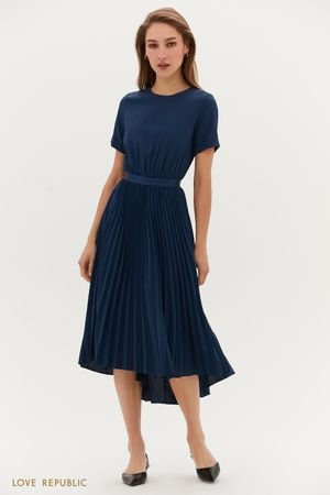 Платье-миди с плиссированной юбкой LOVE REPUBLIC
