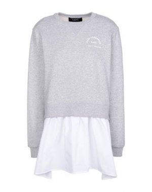 Короткое платье KARL LAGERFELD. Цвет: серый