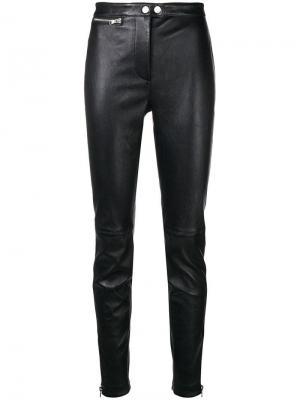 Кожаные брюки кроя слим 3.1 Phillip Lim