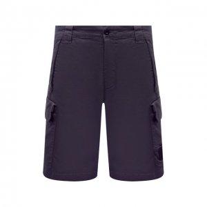 Хлопковые шорты C.P. Company. Цвет: синий