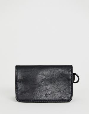 Черный кошелек для монет Bershka. Цвет: черный