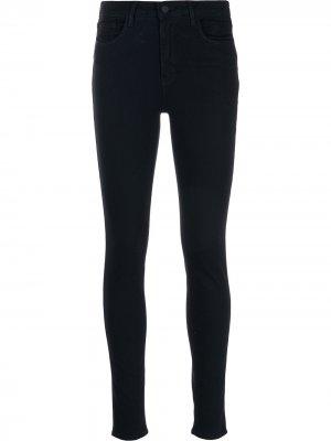 LAgence джинсы скинни Marguerite с завышенной талией L'Agence. Цвет: синий