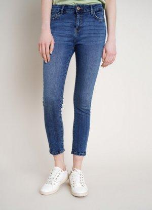 Укороченные суперузкие джинсы O`Stin. Цвет: синий