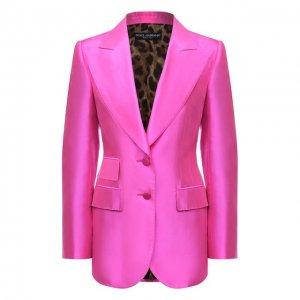 Шелковый жакет Dolce & Gabbana. Цвет: розовый