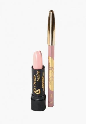 Набор для макияжа губ Chatte Noire Карандаш + Помада №2, 5,75. Цвет: розовый