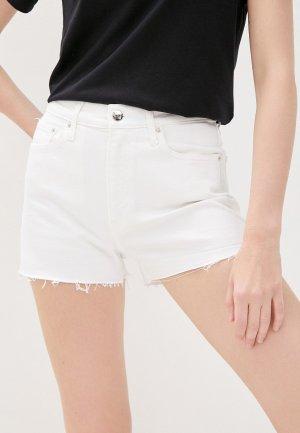 Шорты джинсовые Calvin Klein Jeans. Цвет: белый